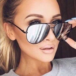 Quay x Desi High Key reflective sunglasses